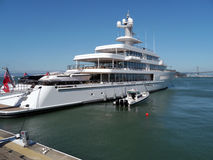 Private Mega Yacht at San Francisco Bay Royalty Free Stock Photo