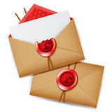Private message with wax seal vector illustration