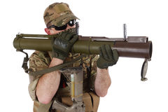 Private Military Contractor with RPG rocket launcher Stock Photography