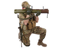 Private Military Contractor with RPG rocket launcher Stock Photo