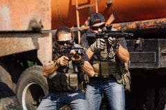 Private Military Contractor during the special operation. Private Military Contractor during the special secret operation Stock Image