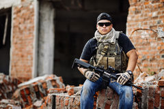 Private Military Contractor during the special operation Royalty Free Stock Photo