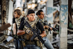 Private Military Contractor during the special operation. Private Military Contractor during the special secret operation Stock Images