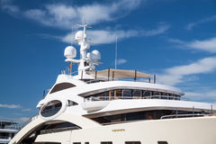 Private million dollar yacht Royalty Free Stock Images
