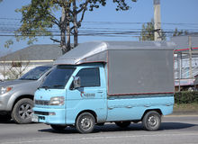 Private Mini Truck of Daihatsu Hijet. CHIANGMAI, THAILAND -JANUARY 13 2015: Private Mini Truck of Daihatsu Hijet. Photo at road no.1001 about 8 km from downtown Stock Image