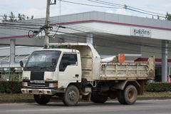 Private Mitsubishi Canter Dump Truck Royalty Free Stock Photo