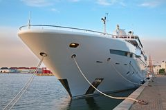 Private motor yacht Stock Photos