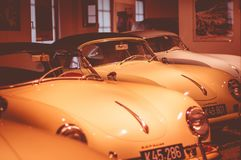 The only private museum of Porsche in Europe is located in the city of Gmund, Austria. The place of development of the first car called Porsche 1944-1950 Royalty Free Stock Photo