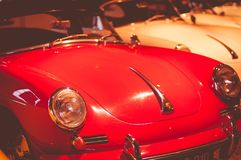 The only private museum of Porsche in Europe is located in the city of Gmund, Austria. The place of development of the first car called Porsche 1944-1950 Stock Images