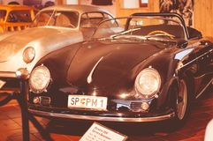 The only private museum of Porsche in Europe is located in the city of Gmund, Austria. The place of development of the first car called Porsche 1944-1950 Stock Photos