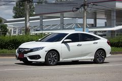 Private New Car Honda Civic  Tenth generation Royalty Free Stock Photos