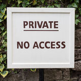 Private - No Access Stock Photo