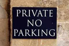 Private No Parking Sign Royalty Free Stock Photo