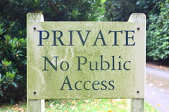 Private No Public Access Stock Photo