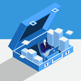 Private office concept vector illustration in flat style Royalty Free Stock Photography