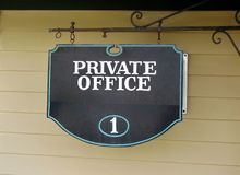 Private Office vintage sign Royalty Free Stock Photo