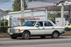 Private old car of Mercedes Benz 300D Royalty Free Stock Photos