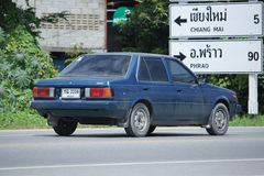 Private old car, Nissan Sunny. Royalty Free Stock Photos