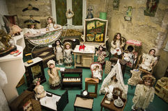 Private old dolls collection Royalty Free Stock Images