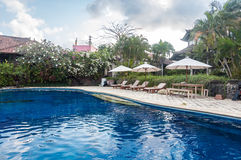 Private old villa with pool outdoor Royalty Free Stock Photos