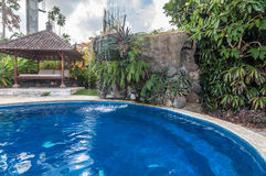 Private old villa with pool outdoor Royalty Free Stock Photo
