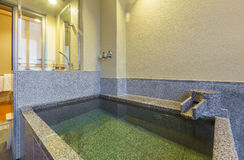 Private onsen bathtub Royalty Free Stock Images