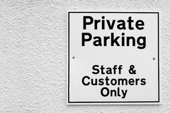 Private parking Royalty Free Stock Photo