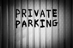 Private Parking Stock Image