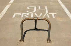 Private parking concept Royalty Free Stock Photo