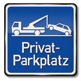 Private parking place. And other parking is prohibited Royalty Free Stock Photography