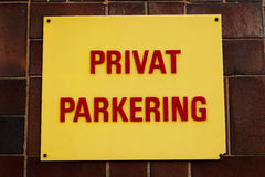 Private parking Stock Photo