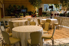 Private party ballroom in restaurant Royalty Free Stock Photography