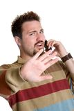 Private Phone Man Stock Photos