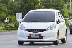 Private Pickup car Honda Jazz. Stock Photo