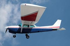 Private Plane. Against a sky with clipping path Royalty Free Stock Images