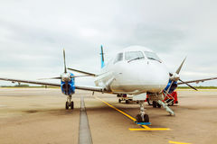 Private plane at airport Stock Photography