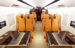 Private plane interior Royalty Free Stock Photography
