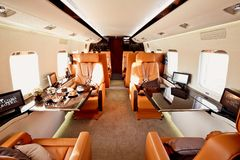 Private plane interior Stock Image
