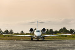 Private Plane in the Tropics Royalty Free Stock Photography