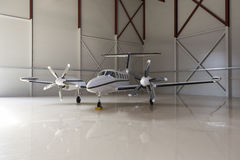 Private plane with two propellers Stock Photo
