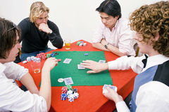 Private poker game Stock Images