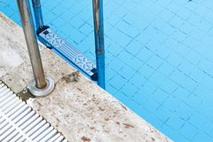 Private Pool and Blank. At summer royalty free stock photo