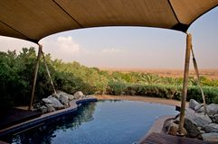 Private pool in the desert Royalty Free Stock Images