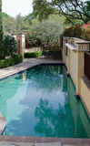 Private pool. With fresh water in a backyard of a house Stock Photography