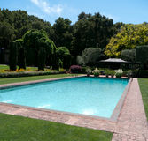 Private pool in a luxurious garden Stock Photo