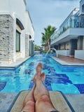 Private pool on Sensimar belek Antalya Stock Photo