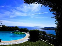 Private Pool in Sounio royalty free stock photos