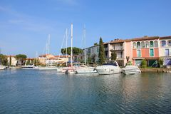 Private port in the south of France Stock Photos