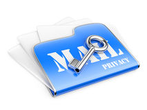 Private post correspondence - privacy mail concept. Stock Photo