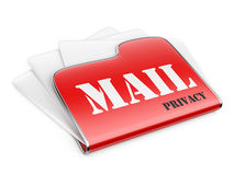 Private post correspondence - privacy mail concept. Stock Images